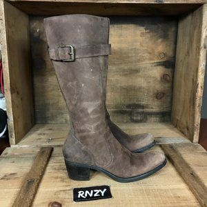 Cole Haan Brown Leather Knee High Heeled Boots